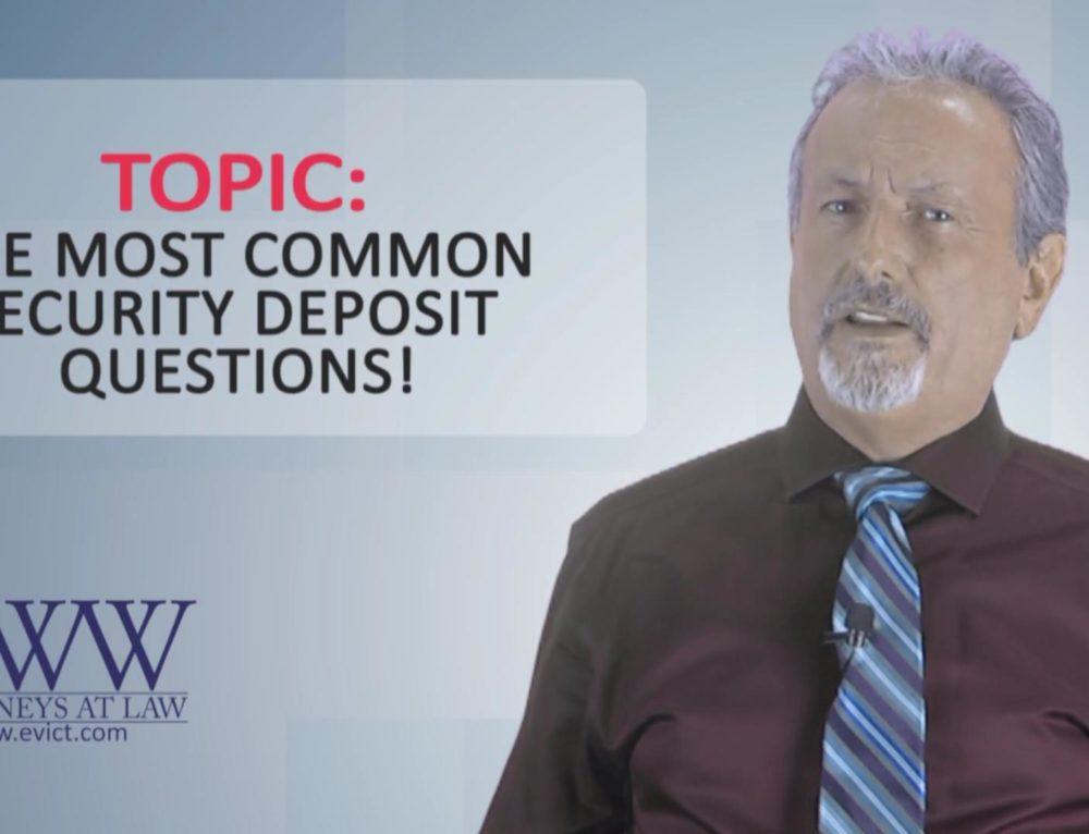 Episode 116: Top Security Deposit Questions