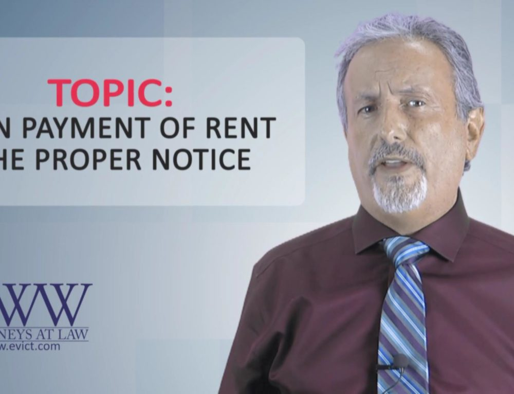 Episode 124: Nonpayment of Rent – The Proper Notice