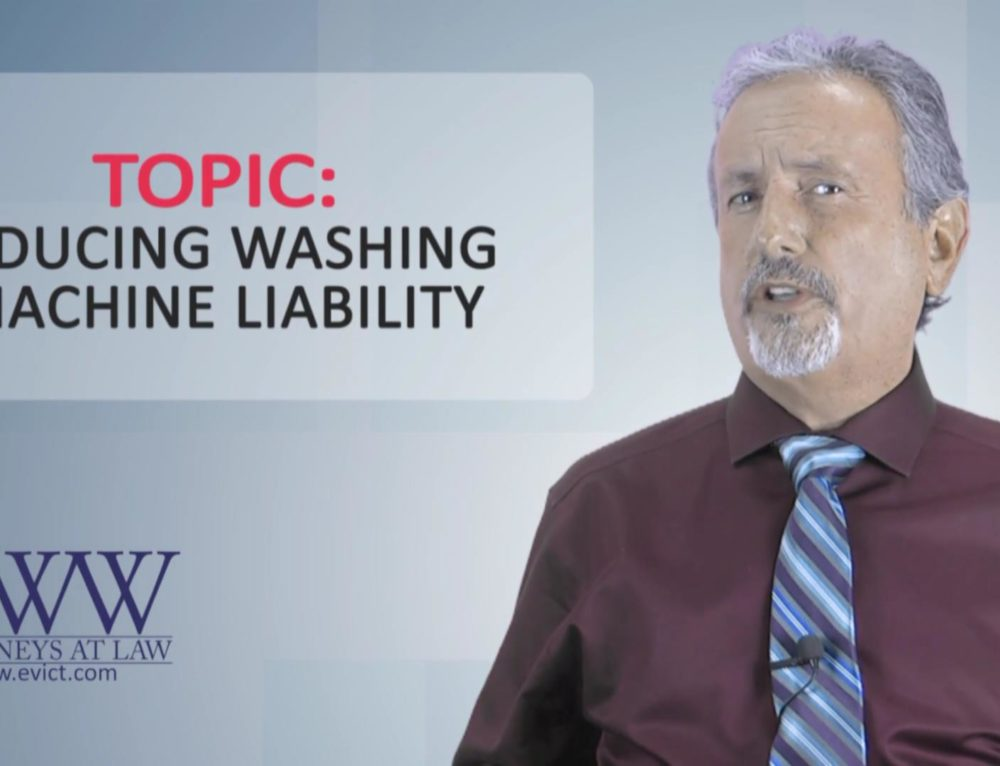 Episode 131: Reducing Washing Machine Liability